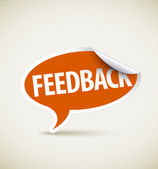 Feedback - speech bubble — Stock Vector