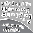 Royalty-Free Stock Vector Image: Anonymous alphabet made from newspapers