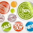 Set of labels and stickers - sale and best price — Stock Vector #5587634