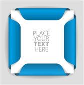 Blue paper card holder — Stock Vector
