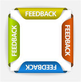 Feedback stickers — Stock Vector