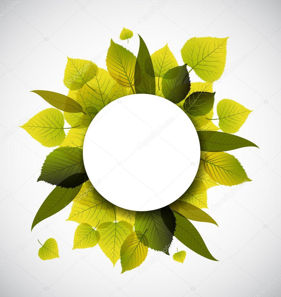 春天树叶抽象背景 — 图库矢量图像08