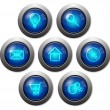 Colorful glassy web buttons — Stok Vektör #5607713