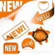 Set of orange elements for new items - Imagen vectorial
