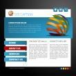 Modern web page template - Stock Vector