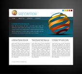 Modelo de site moderno — Vetor de Stock