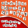 Royalty-Free Stock Obraz wektorowy: Anonymous alphabet - white clippings