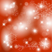 Vector red Christmas background with white snowflakes and place for your te — Stock Vector