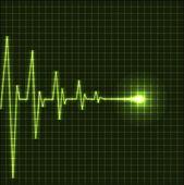 Abstract heart beats cardiogram — Stock Vector