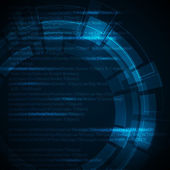 Abstract dark blue technical background with place for your text — Stockvektor