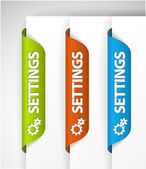 Settings Stickers — Stock Vector