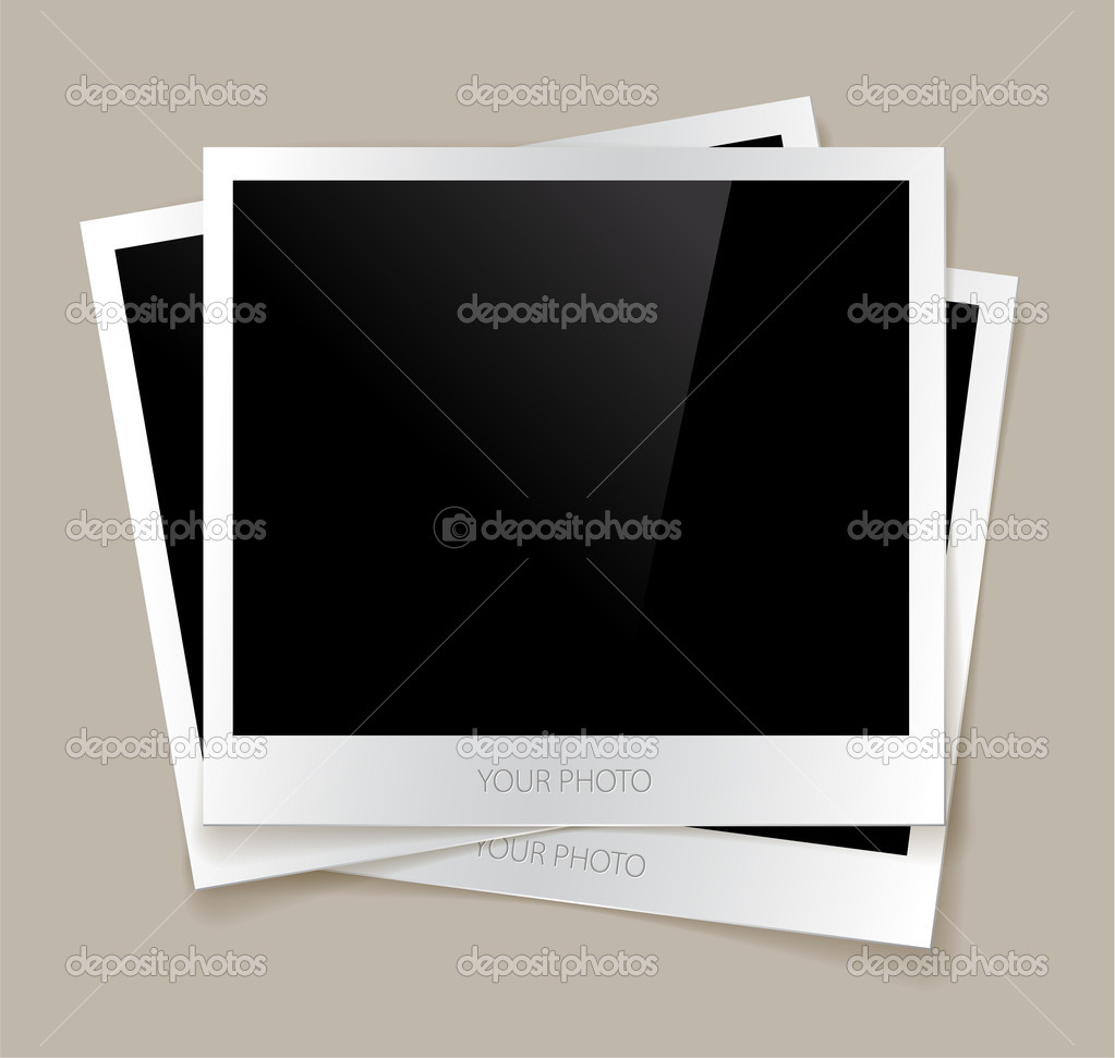 Empty photos vector illustration with a nice shadow — Stock Vector #5909815
