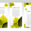 Fresh natural vertical banners with leafs — Stock Vector