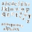 Stock Vector: Anonymous alphabet