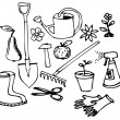 Garden doodle collection - Stock Vector