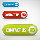 Set of contact us buttons — Stockvektor
