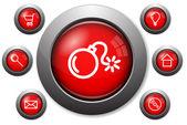 Renkli camsı web düğmeleri — Stok Vektör