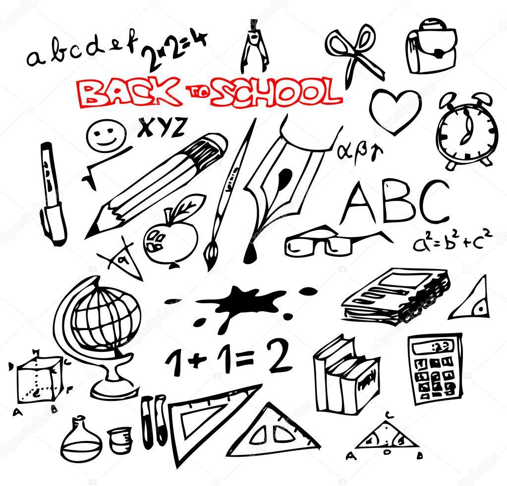 Рисунок в графике о школе