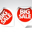 Round Labels stickers for big sale - Stock Vector