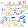 Back to school - illustrations — Imagen vectorial