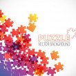 Abstract puzzle background — Imagen vectorial
