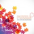 Abstract puzzle background — Stock Vector