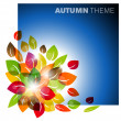 Royalty-Free Stock Vector Image: Autumn leafs background