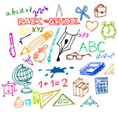 Back to school - illustrations — Stok Vektör