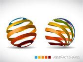 Collectie van abstracte bollen — Stockvector