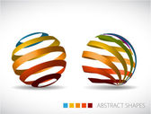 Collection of abstract spheres — Vettoriale Stock