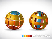 Collection of abstract spheres — Stock Vector