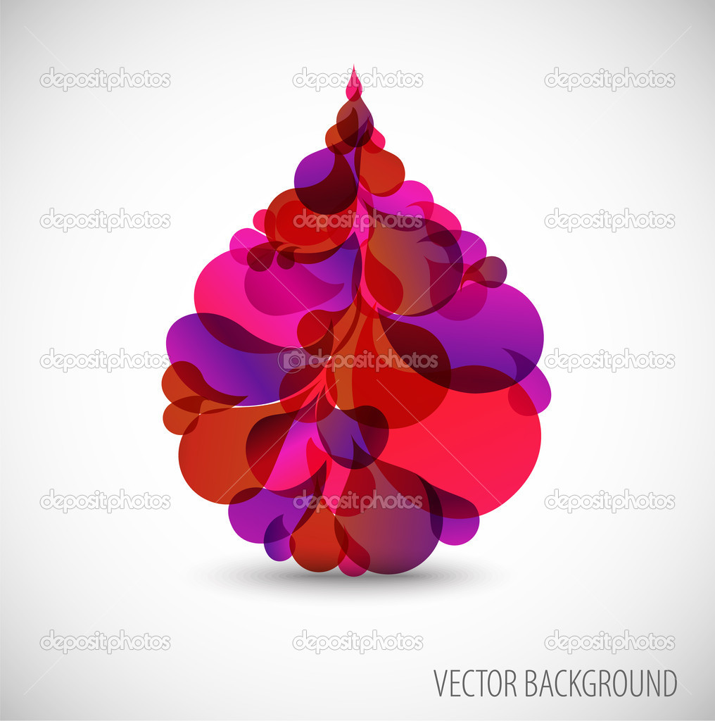 Abstract blood droplet with place for your text  Stock Vector #6035921