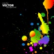 Vector rainbow background with splats - Stock Vector