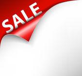Red sale corner background — Stock Vector