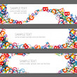 Banners with colorful rainbow numbers — Stock Vector #6100079