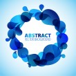 Stock Vector: Abstract blue background