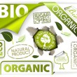 Royalty-Free Stock Vector Image: Set of bio, eco, organic elements