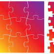 Stockvektor : Complete puzzle or jigsaw set