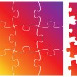 Vector de stock : Complete puzzle or jigsaw set