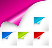 Kolekce barevných papírů — Stock vektor