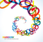 Abstract background with colorful rainbow numbers — Stock Vector