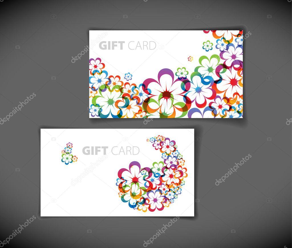 modern gift card templates stock vector copy orson  modern gift card templates stock vector 6100149