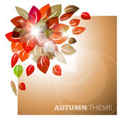 Autumn leafs abstract background — Stock Vector