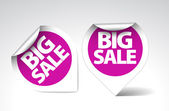 Round Labels stickers for big sale — Stock Vector