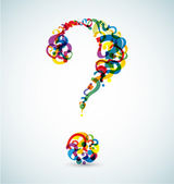 Big question mark made from smaller question marks — Vector de stock