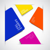 Set of vector colorful paper cards — Stock Vector