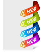 Conjunto de setas coloridas — Vetor de Stock