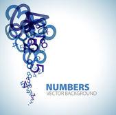 Achtergrond met blauwe nummers — Stockvector