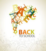 "Abstract ""Back to School"" background — Stockvector"