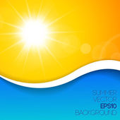 Summer background with place for your content — Stock Vector